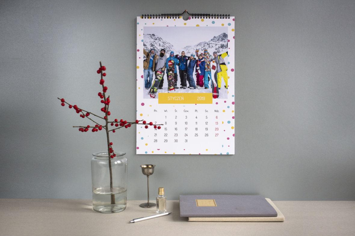 Kalendarz ścienny A3
