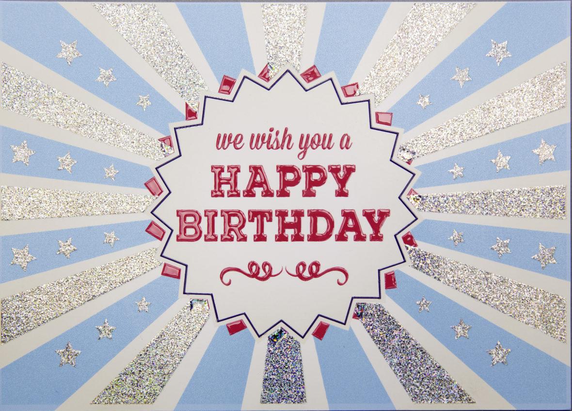 Scodix Glitter Birthday Card