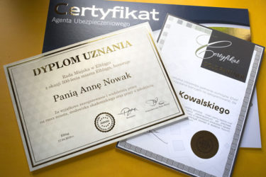 Certyfikaty Enaf
